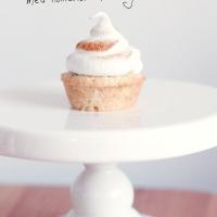 Rabarber- och myntacupcakes med maräng!