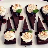 Chokladdessert med italiensk maräng!