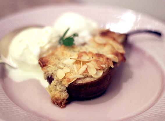 päron dessert mandel