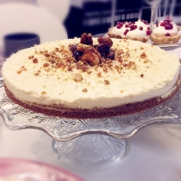 Vit chokladcheesecake med getost!