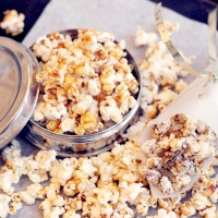 Caramel popcorn and a movie!