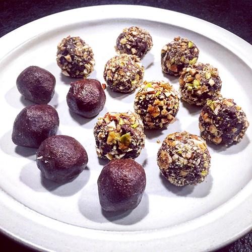 chokladbollar med rom